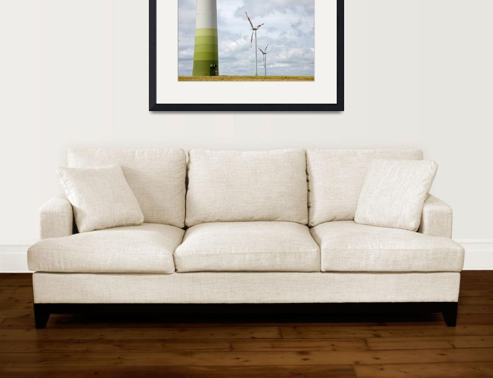 """""""Wind farm in Germany&quot  (2012) by IanMiddletonphotography"""