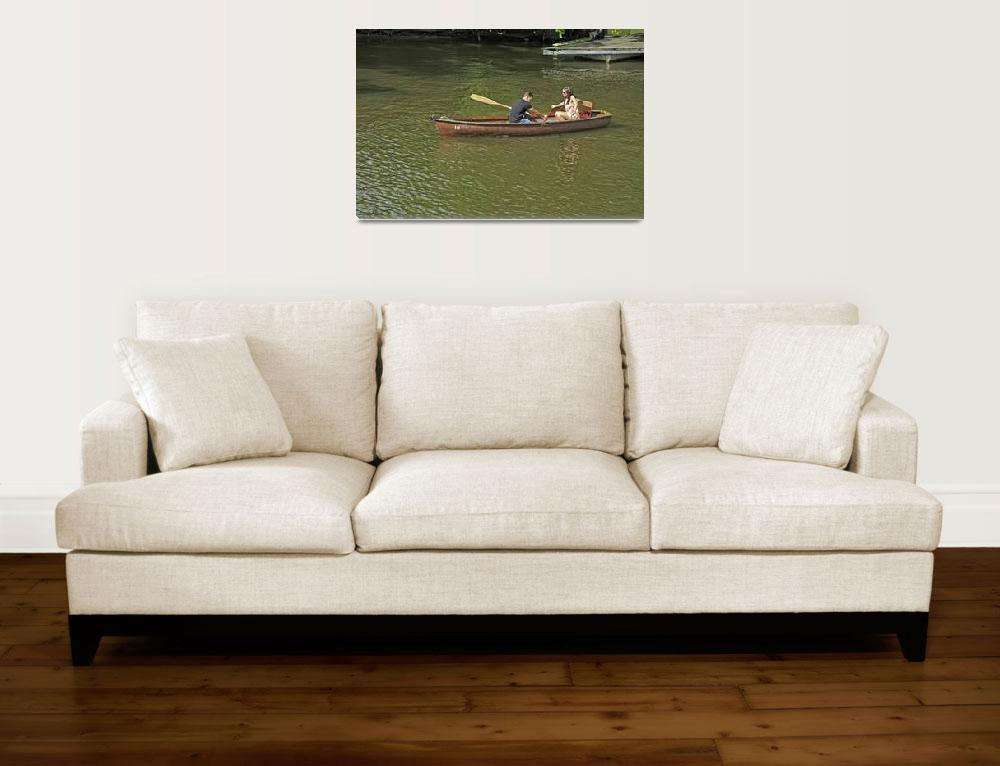 """Rowing In Boat 18, Stratford-upon-Avon (36761-RDA)""  (2013) by rodjohnson"