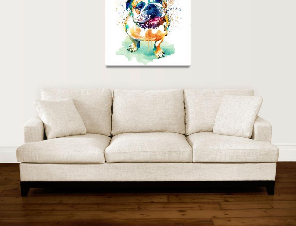 """Watercolor Bulldog""  (2018) by MarianVoicu"