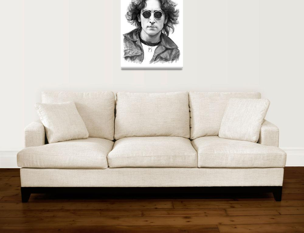 """John Lennon Drawing Art Poster&quot  (2016) by visualharbour"