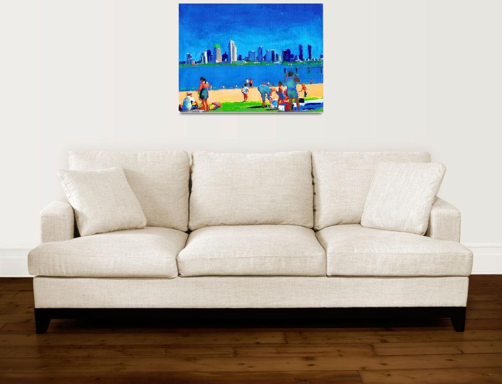 """Beach at Ferry Landing, Coronado Island Art&quot  (2005) by RDRiccoboni"