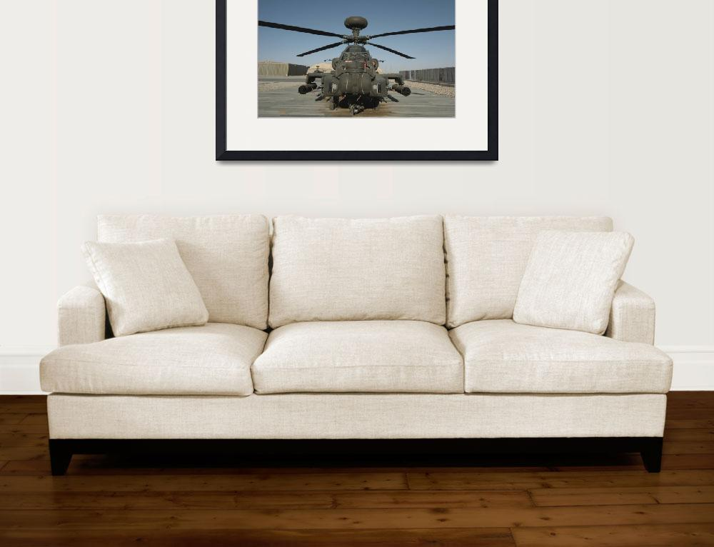"""An Apache Helicopter at Camp Bastion, Afghanistan&quot  by stocktrekimages"
