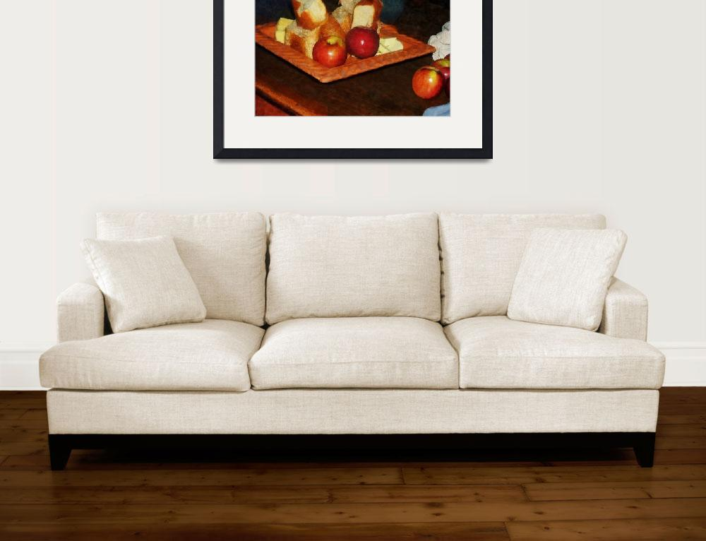 """""""Apples and Bread&quot  (2010) by susansartgallery"""