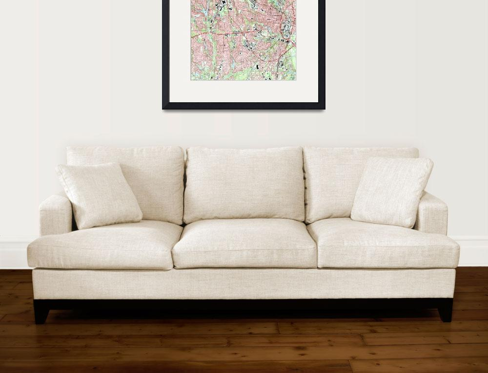 """Fayetteville North Carolina Map (1997)&quot  by Alleycatshirts"