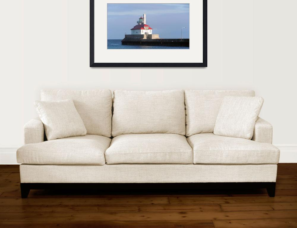 """""""Lighthouse 2 Lake Superior, Duluth Minnesota Canal""""  (2010) by LJdesigns"""