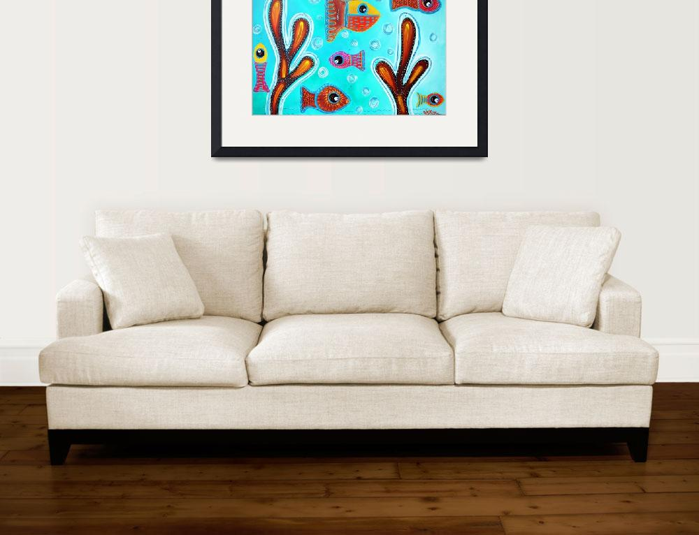 """""""Quilted Fish""""  (2016) by ArtPrints"""