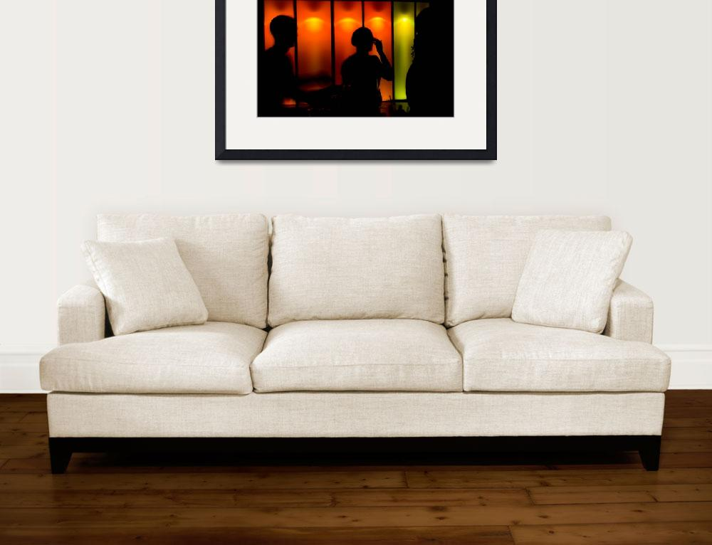 """""""Nightclub and people silhouetted&quot  (2008) by NickEskey"""