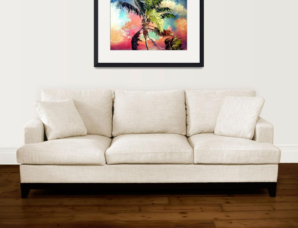 """""""Palette knife Palm Tree&quot  (2008) by mazz"""