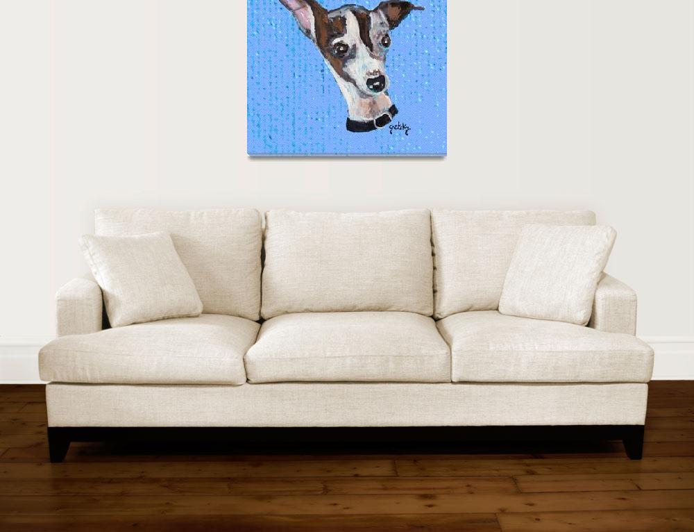 """""""Mia the Italian Greyhound""""  by paintingsbygretzky"""