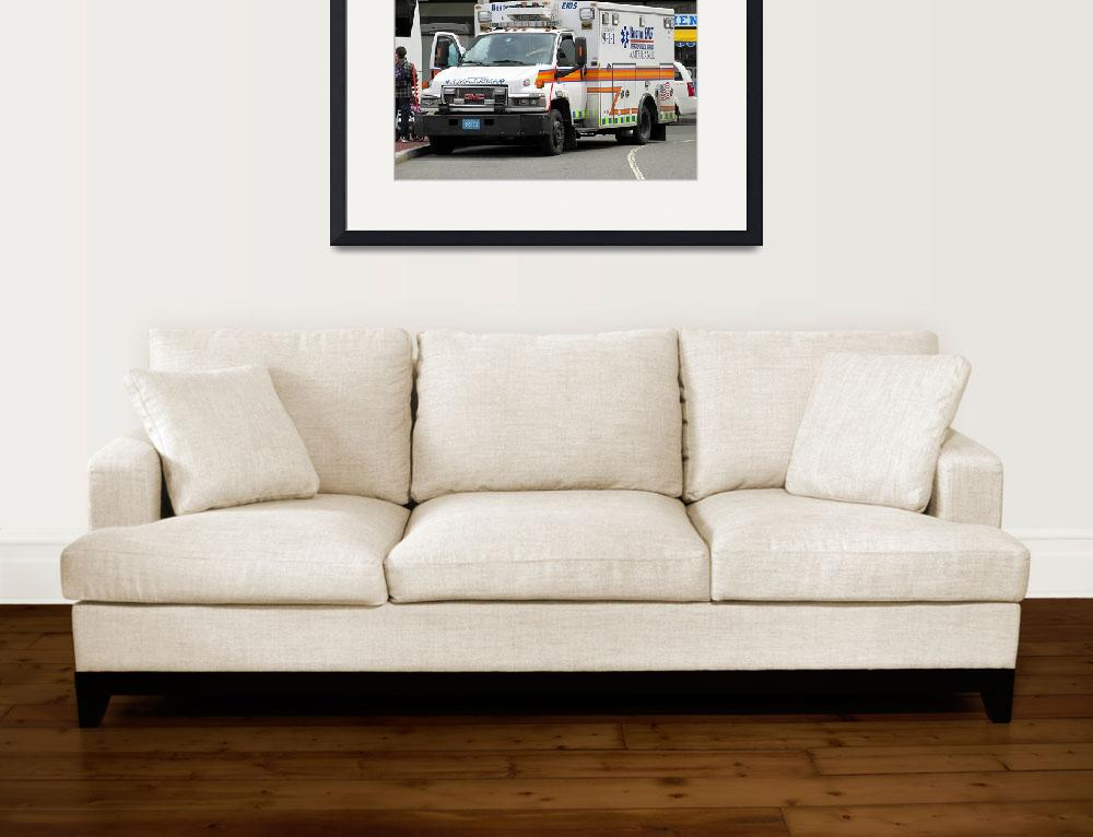 """Boston EMS ambulance&quot  by Code4North"