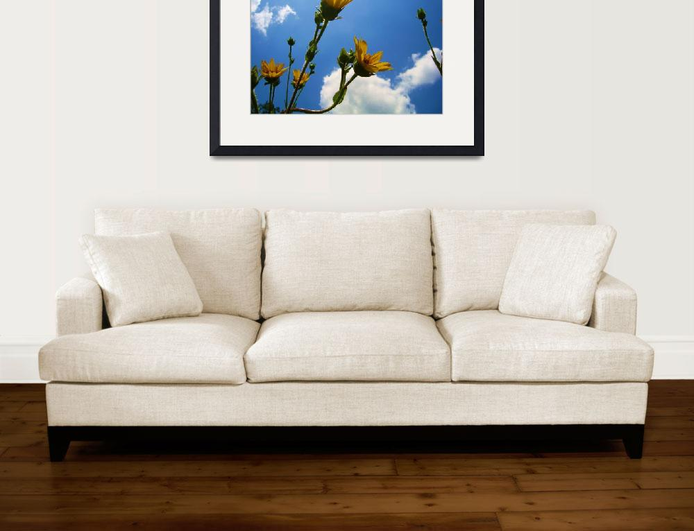 """""""Yellow Flowers 7&quot  (2012) by DigitalCreations"""