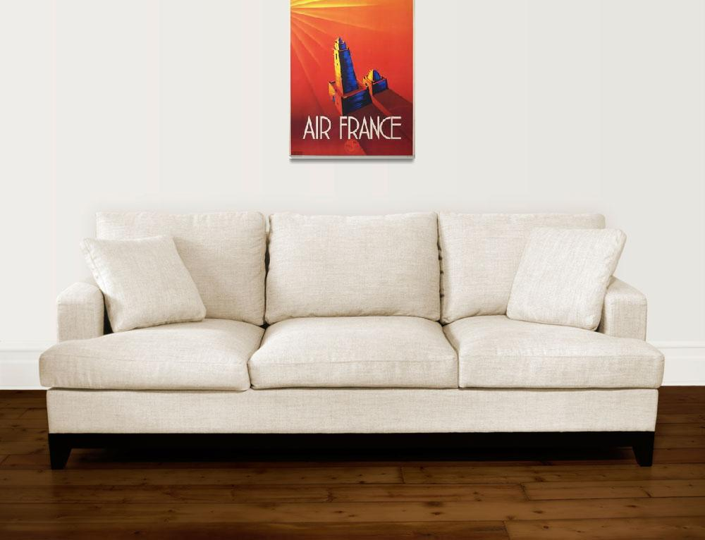 """Air France Vintage Poster&quot  by FineArtClassics"