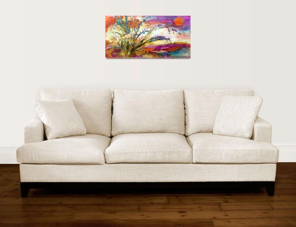 """""""Expressive Floral Landscape Oil Painting&quot  (2016) by GinetteCallaway"""