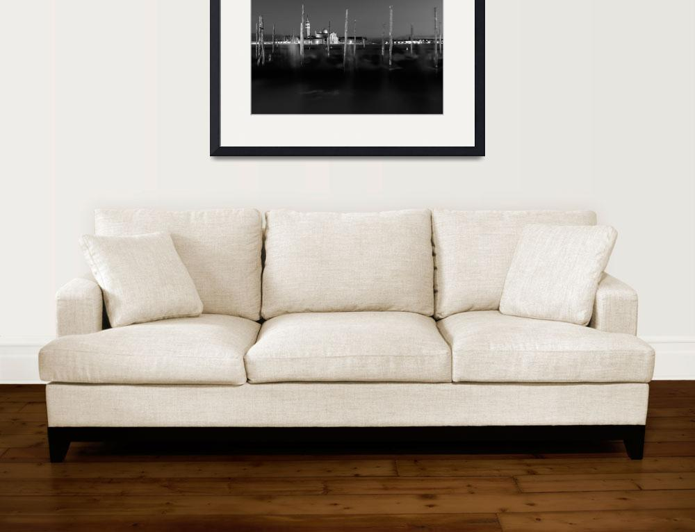 """""""black and white photo of Venice&quot  (2013) by emporoslight"""