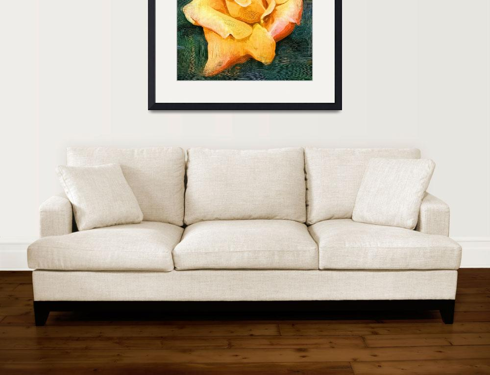 """""""Yellow Rose Bloom In Oil&quot  (2016) by Kirtdtisdale"""