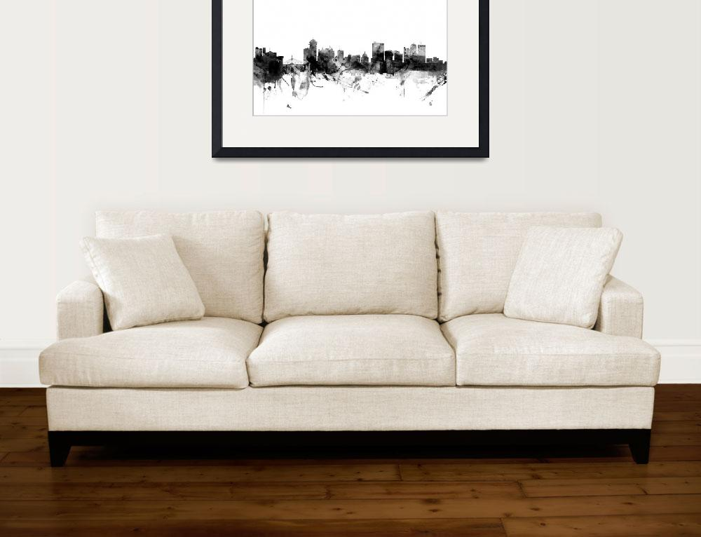 """Winnipeg Canada Skyline&quot  (2017) by ModernArtPrints"