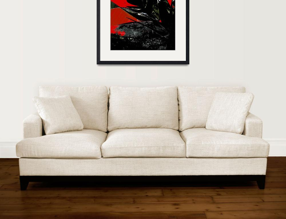 """""""abstract floral in red black&quot  (2008) by shanmaree"""