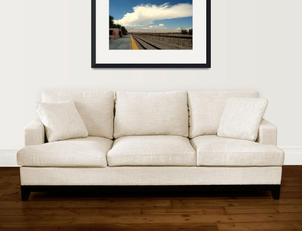 """""""Palm Springs Train Station&quot  (2009) by bsimonis"""