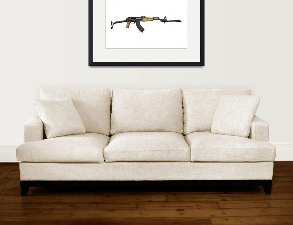 """""""Russian AK-47 assault rifle with folding metal but&quot  by stocktrekimages"""