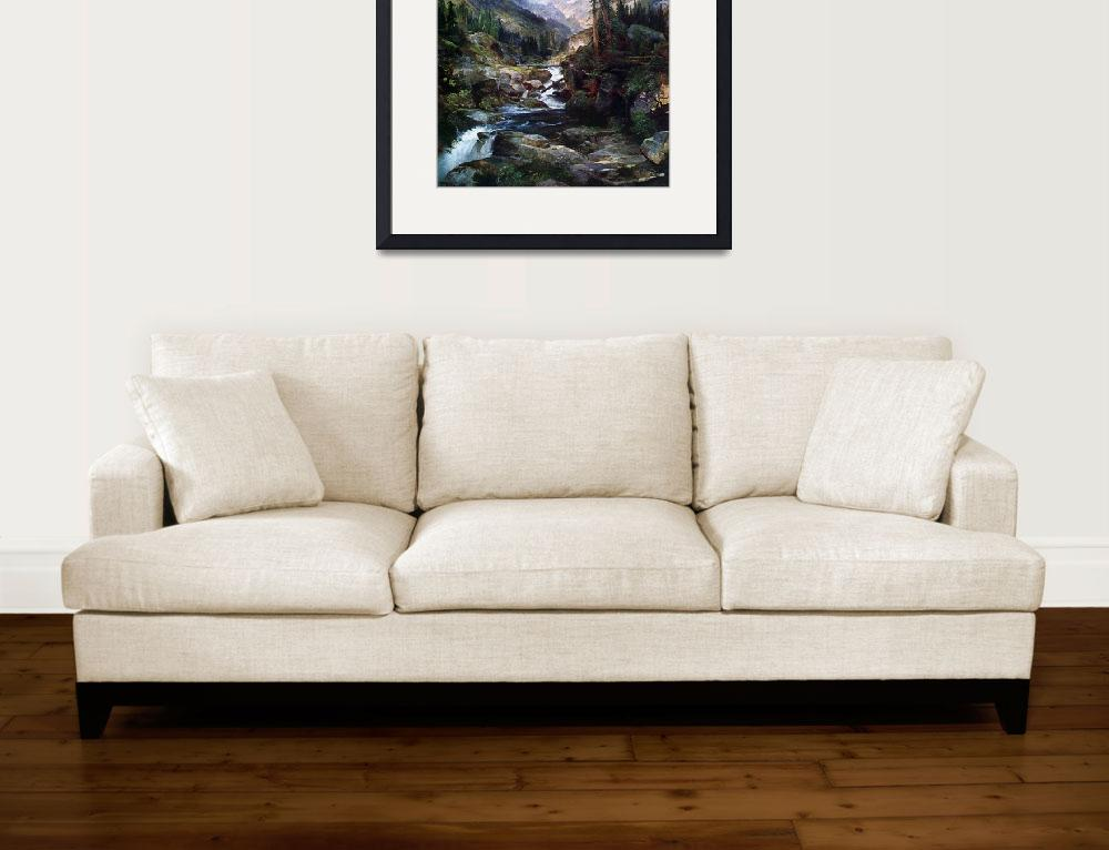 """""""Mountain of the Holy Cross by Thomas Moran""""  by ArtLoversOnline"""