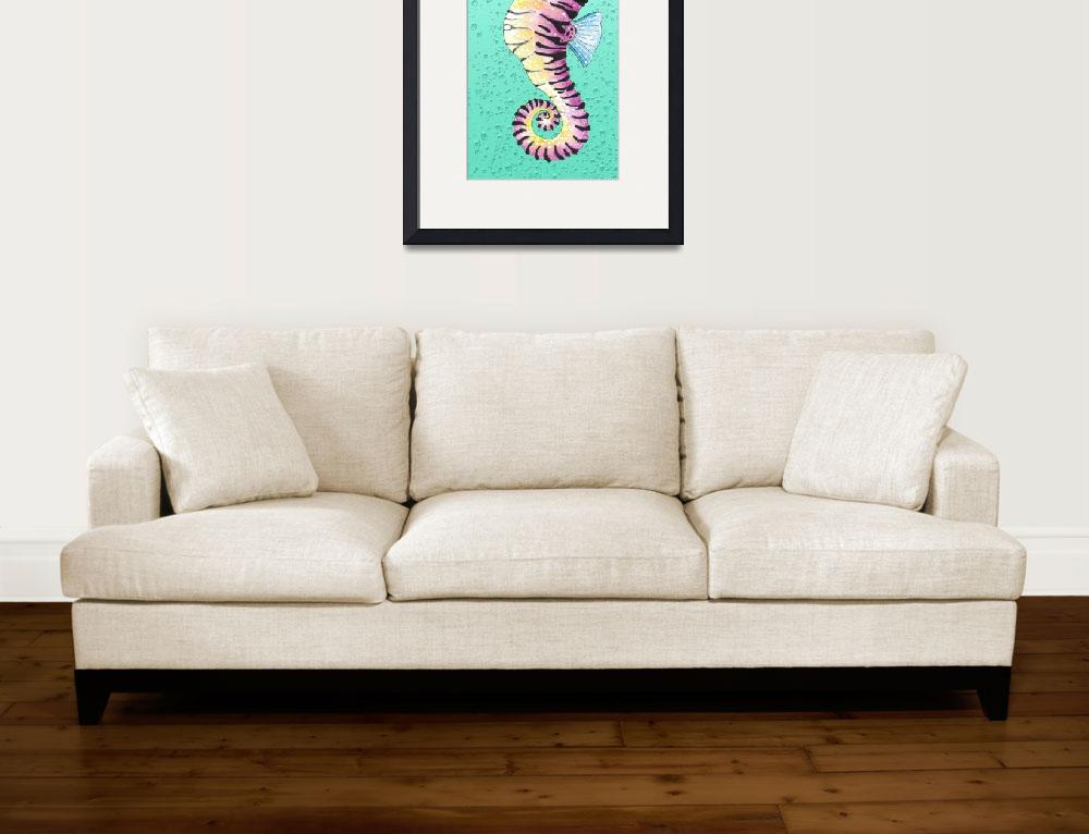"""""""Seahorse Turquoise""""  (2014) by artdeep"""