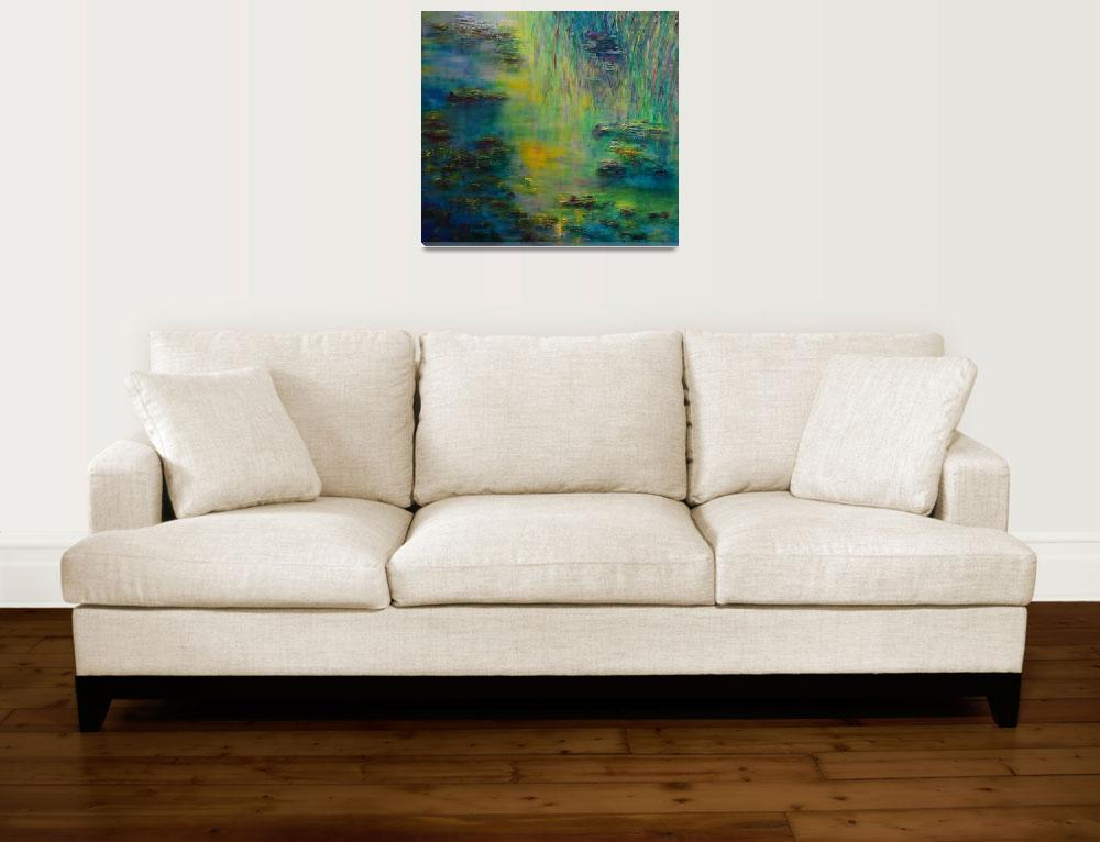 """""""Tribute to Monet Lily Pond&quot  (2010) by artbyclaire"""