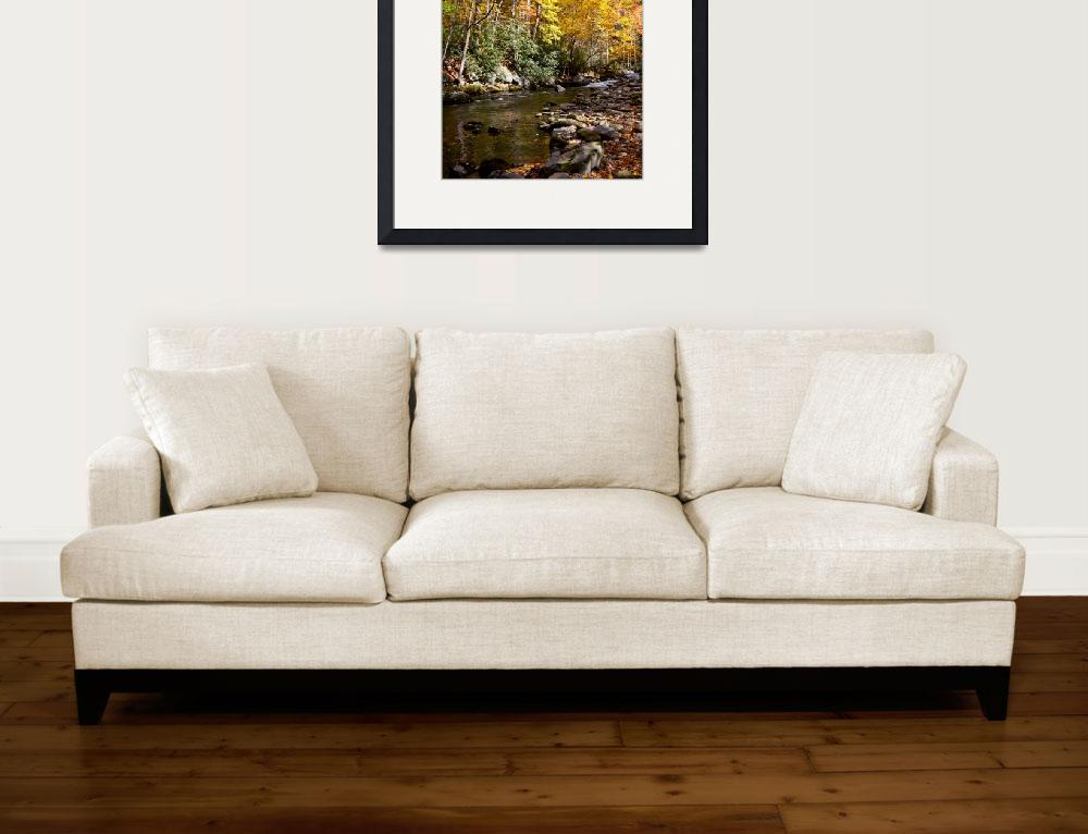 """""""Autumn On The Little River&quot  by Lorraine_Sommer"""