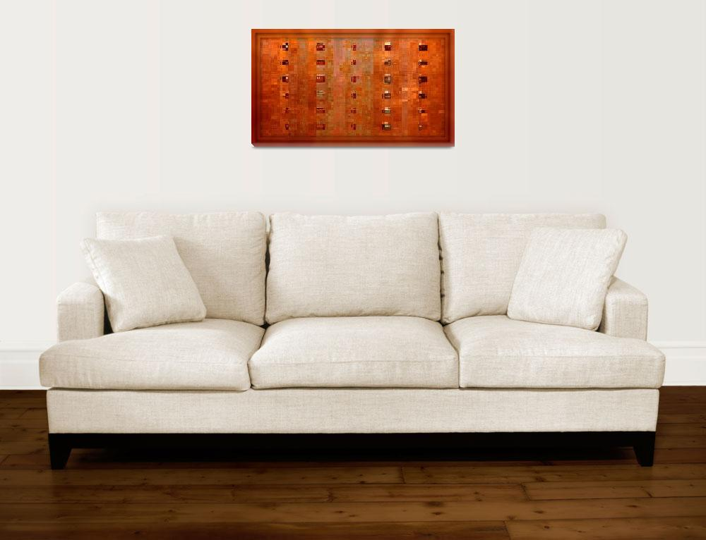 """""""Copper Abstract Art&quot  by Groecar"""