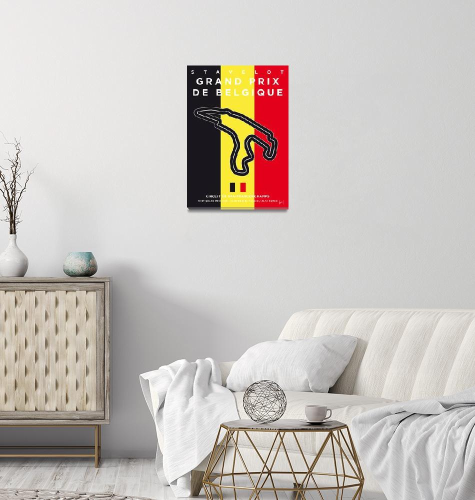 """""""My F1 FRANCORCHAMPS Race Track Minimal Poster""""  by Chungkong"""