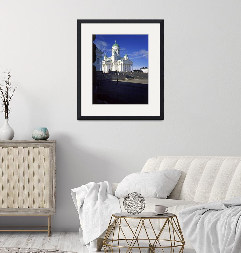 """Helsinki Cathedral, Finland from the University""  (1999) by PriscillaTurner"