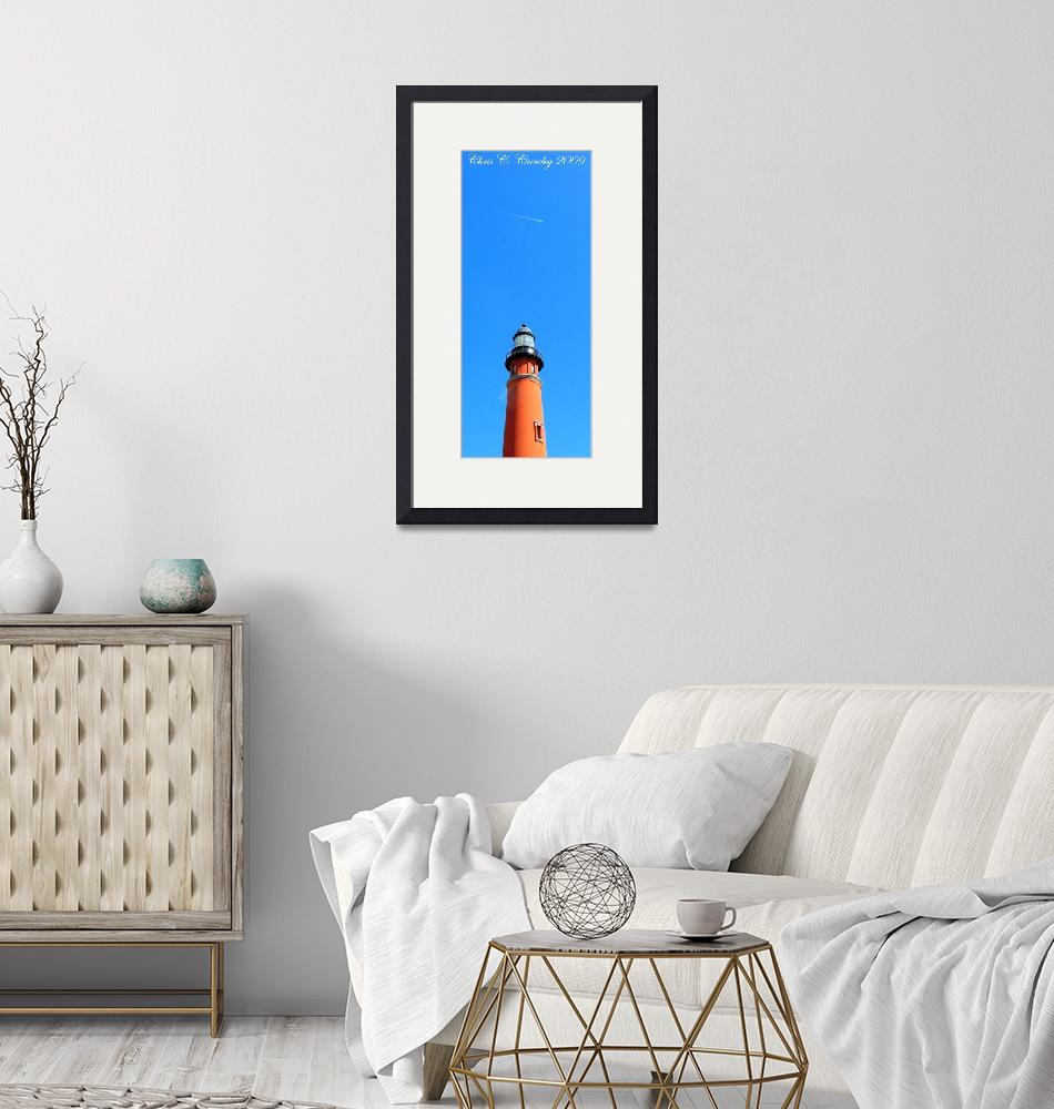 """""""Jet Over the Lighthouse""""  (2009) by ChrisCrowley"""