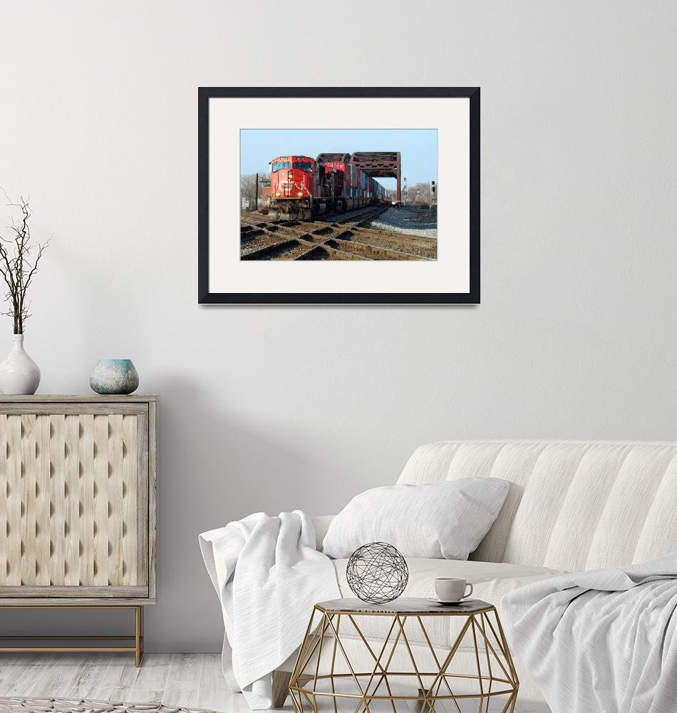 """Canadian National Railway EMD SD75I # CN 5653 at B""  by Laurence"