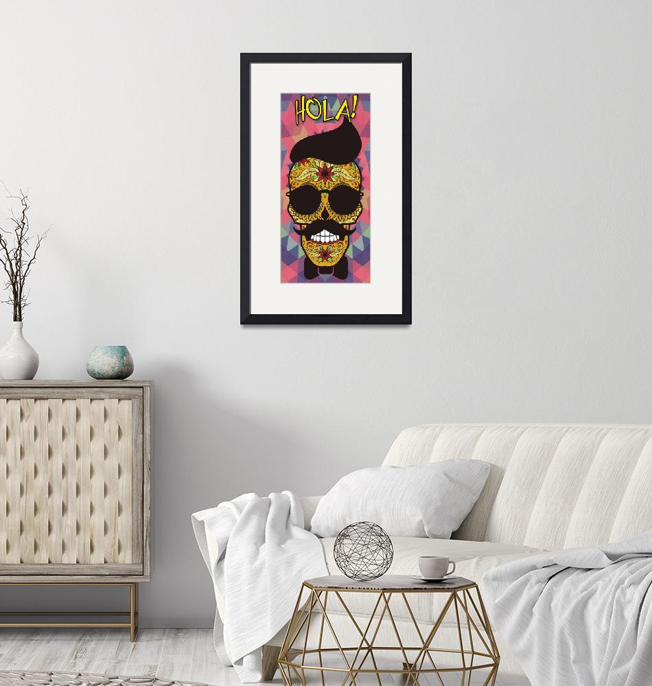 """""""Hola! Sugar Skull - Day of the Dead""""  by VeryPeculiar"""