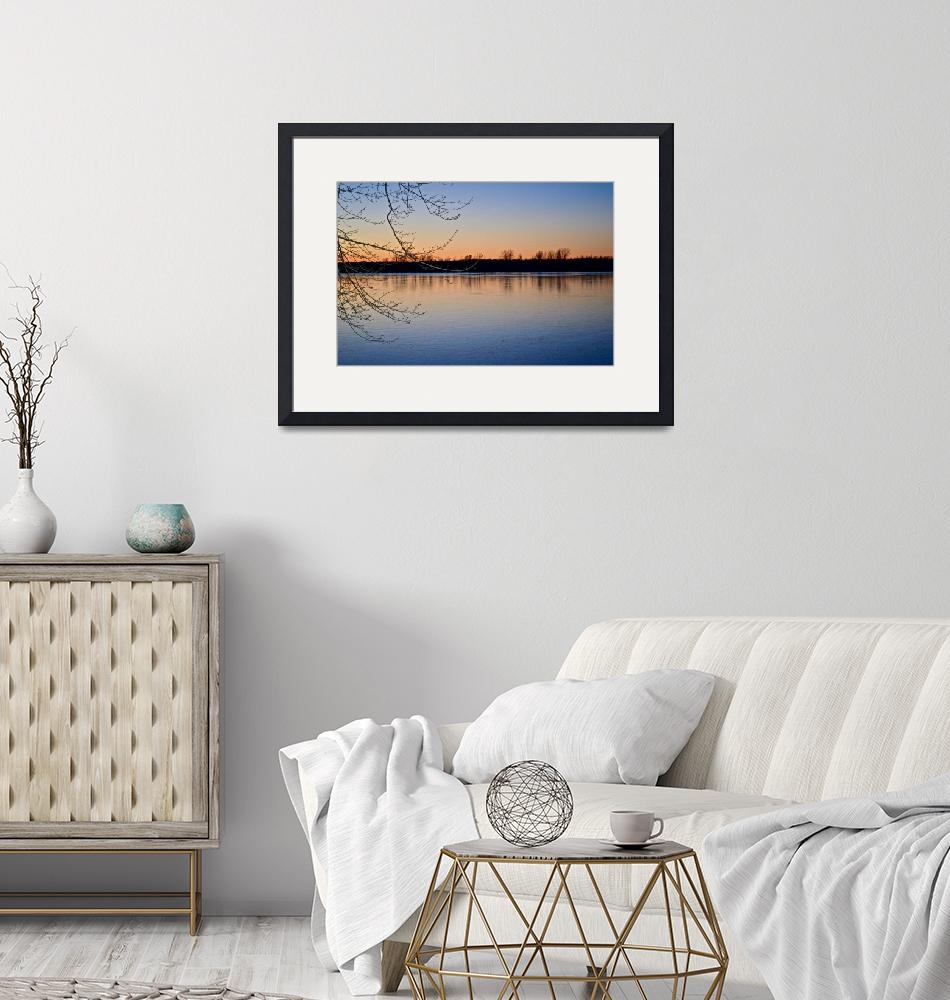 """""""Sunset on Lake Champlain""""  (2015) by Abitofeastandwest"""