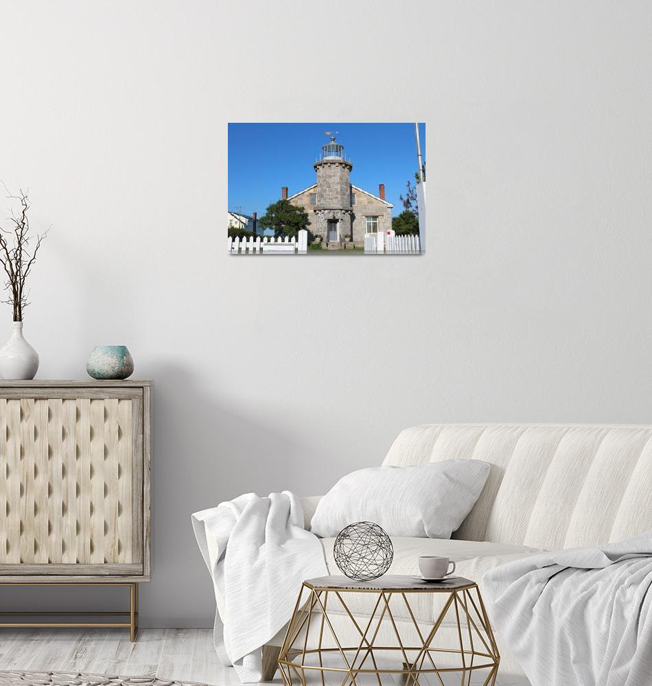 """Stonington Lighthouse""  (2017) by WMolloyPhotography"