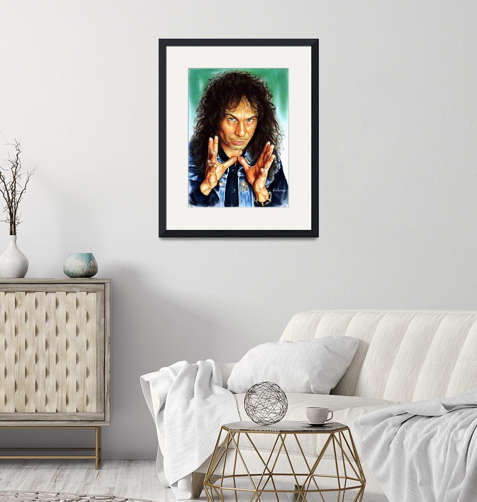 """Ronnie Jame Dio painting portrait""  (2015) by portraitposters"
