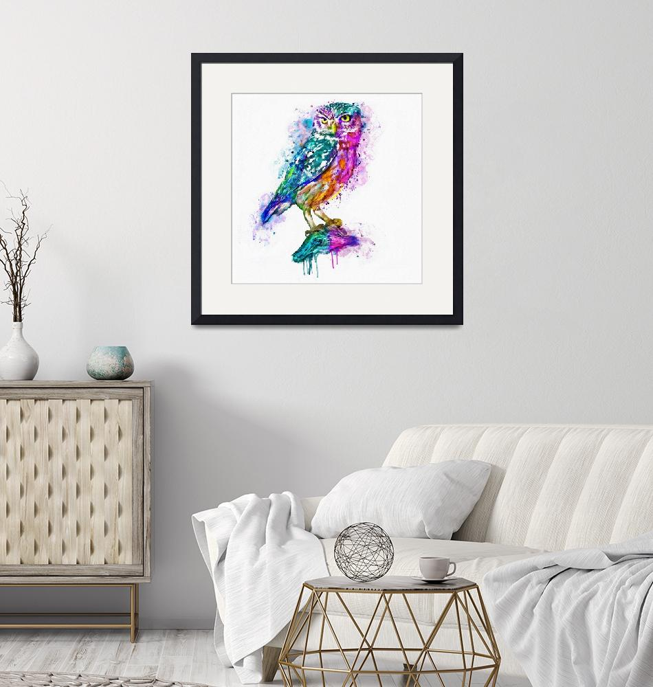 """""""Colorful Owl""""  (2016) by MarianVoicu"""