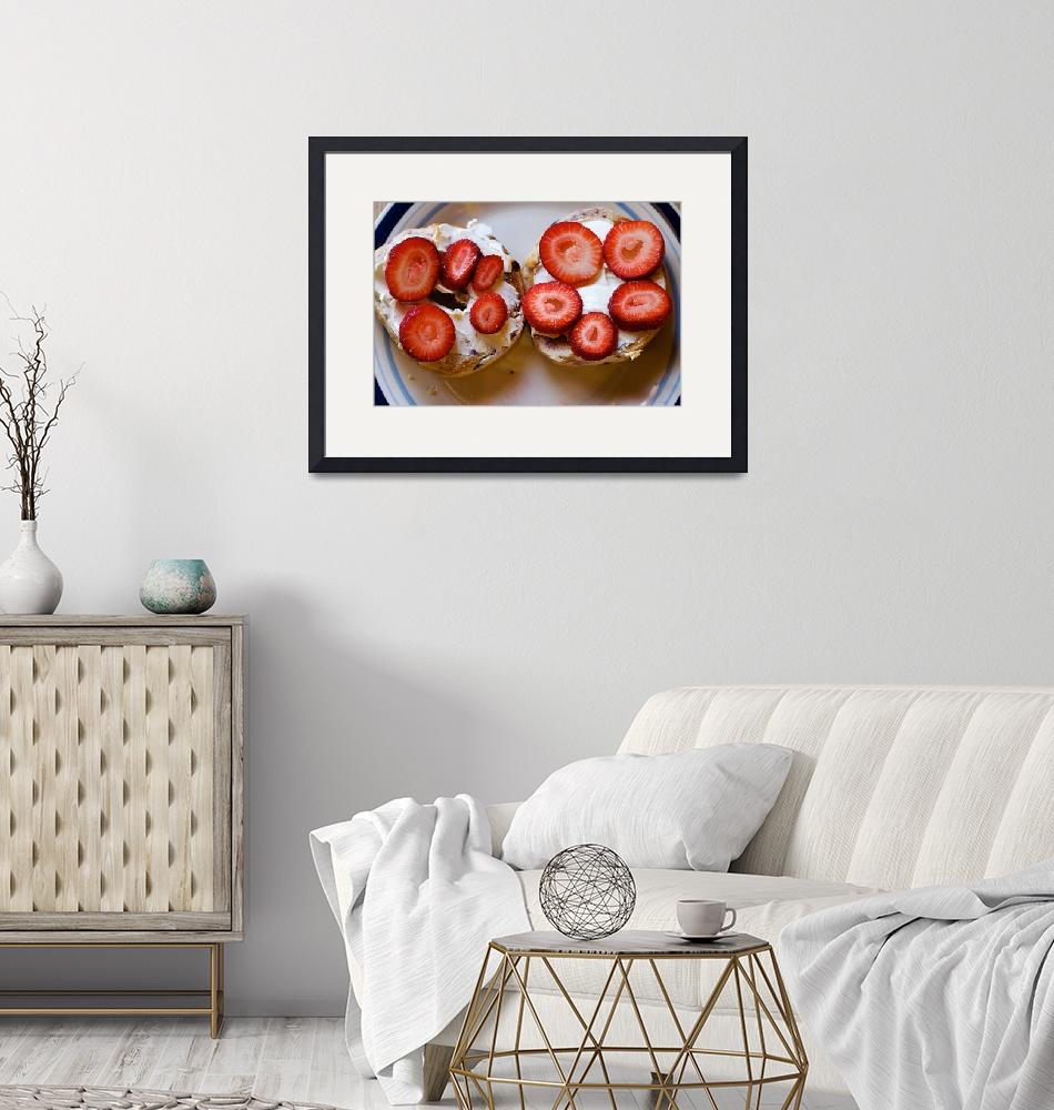 """""""Strawberries on Bagels""""  (2009) by cogdog"""