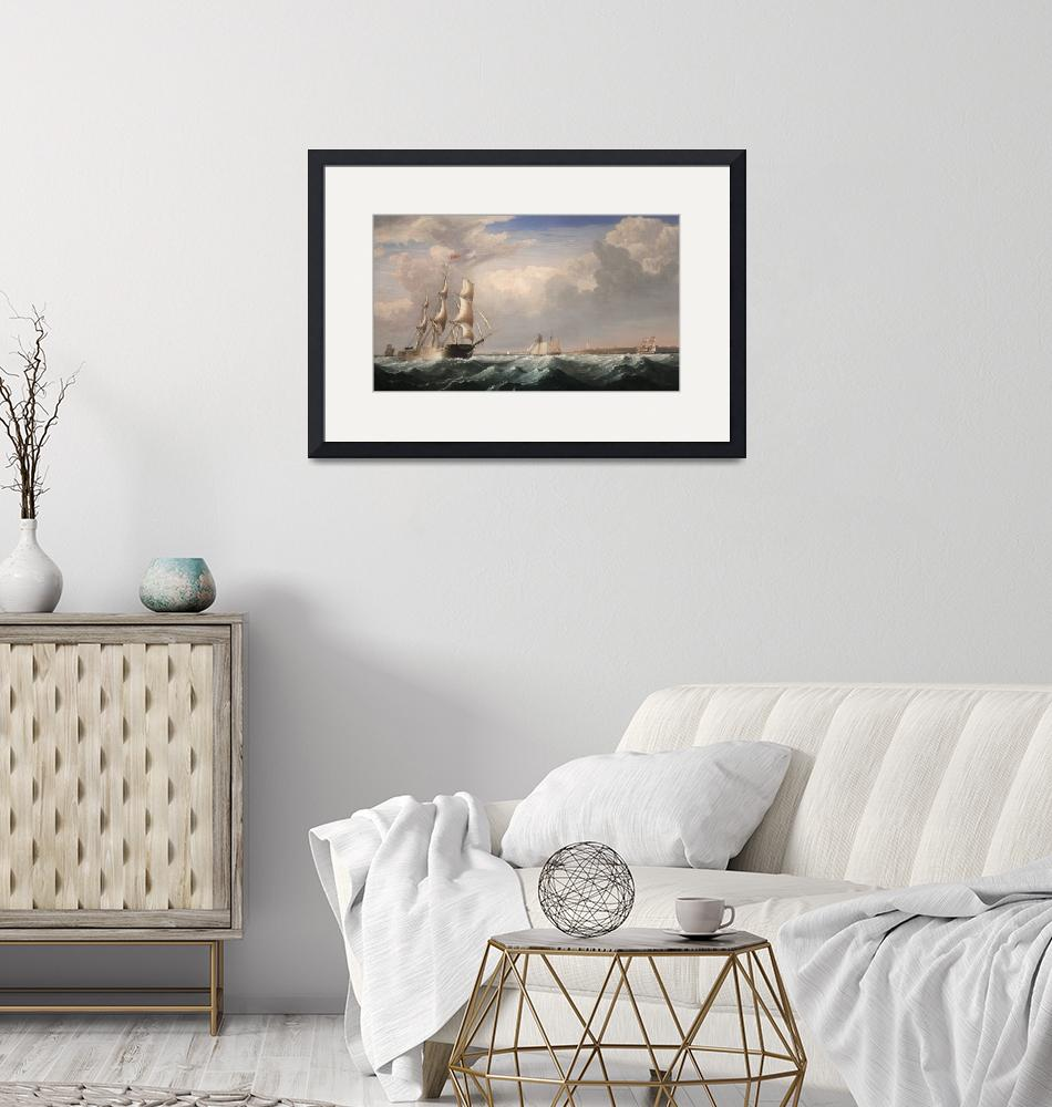 """""""Sailing Ships off the New England Coast""""  by fineartmasters"""