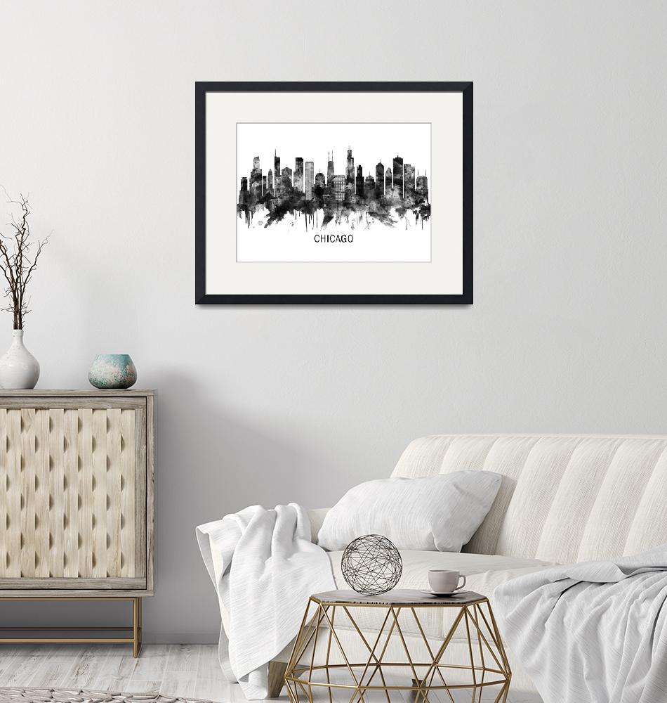"""""""Chicago Skyline""""  by Towseef"""