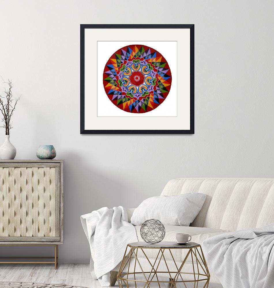 """""""Costa Rica Oxcart Wheel Design""""  (2018) by Cyril-Brass"""