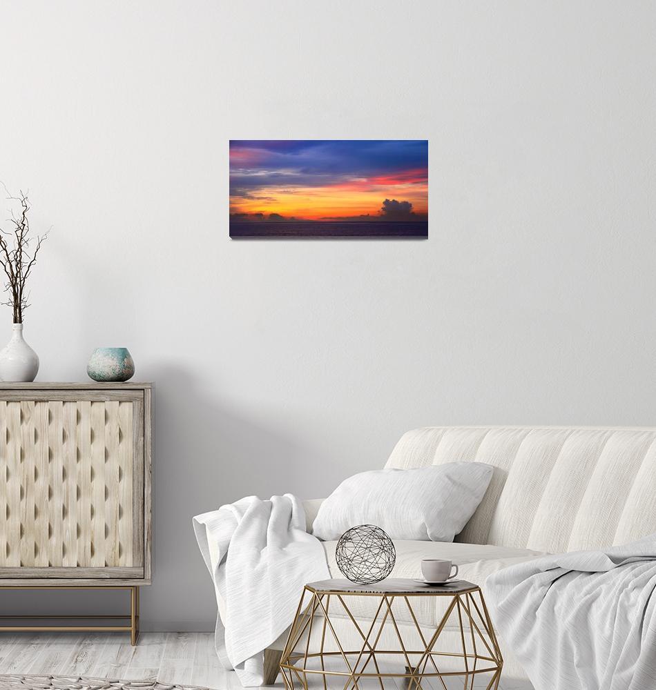 """Dawn Sky over the Bahamas Sea""  (2015) by RoupenBaker"
