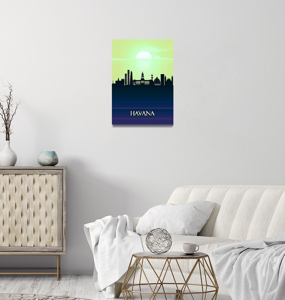 """Havana City Skyline""  by Towseef"
