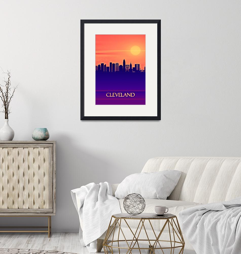 """Cleveland City Skyline""  by Towseef"