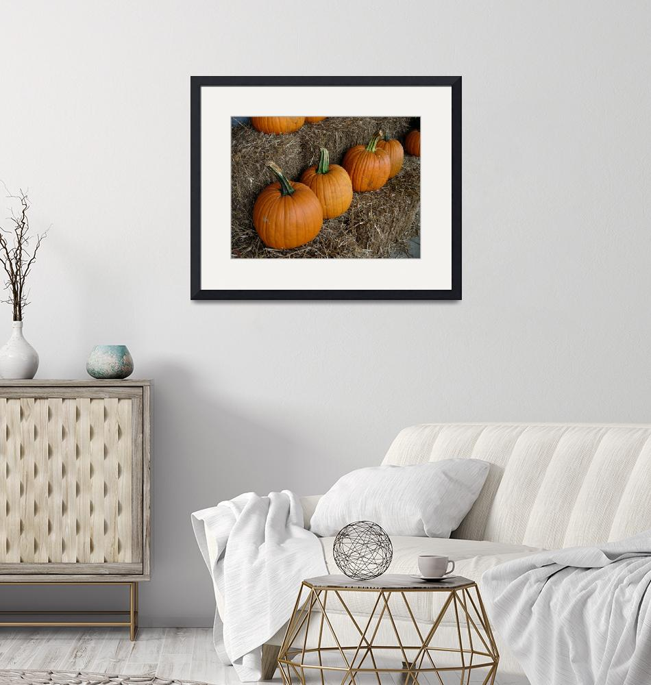 """Autumn Pumpkin Harvest""  (2004) by sherijohnson"
