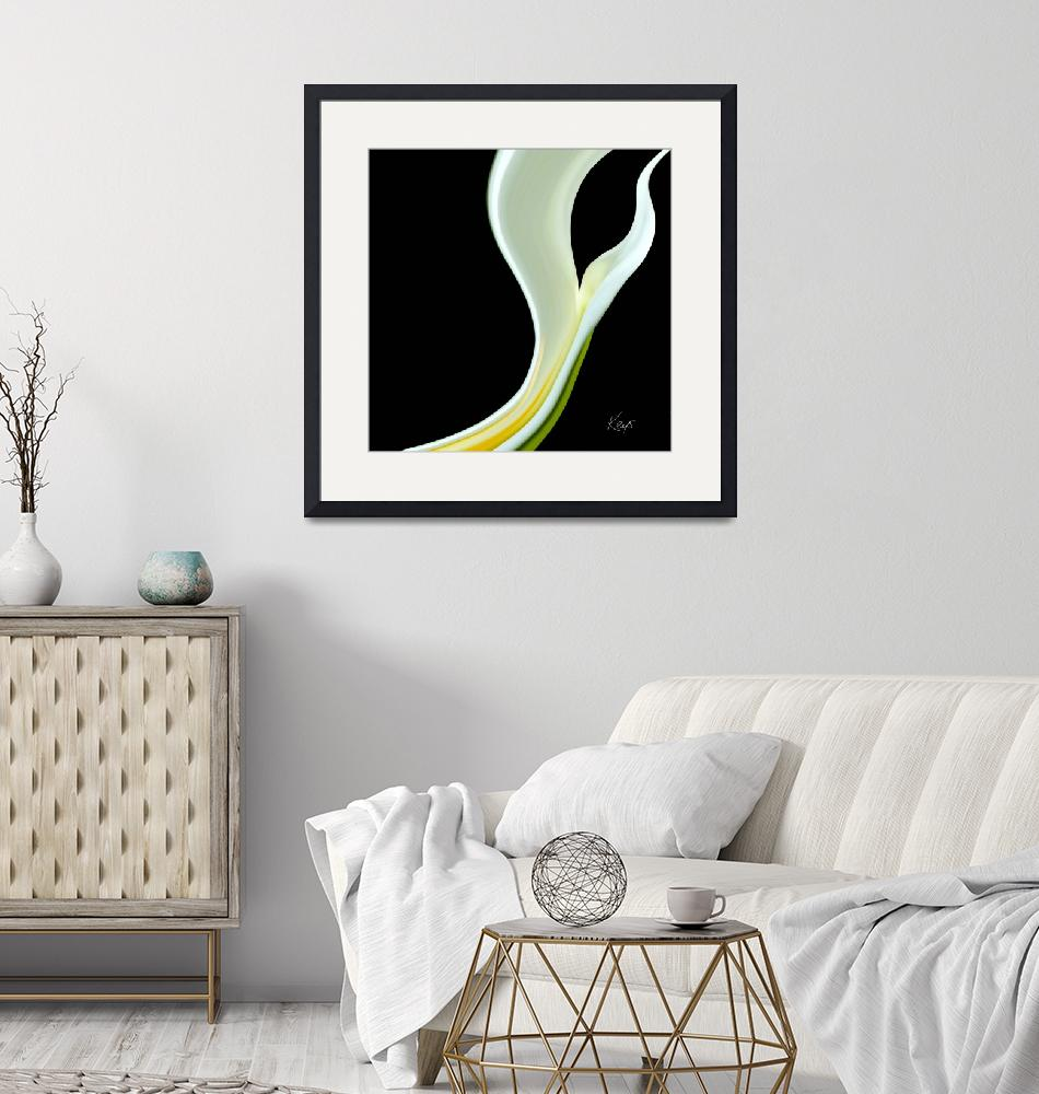 """""""Abstract floral-lily""""  (2007) by artbykeys"""