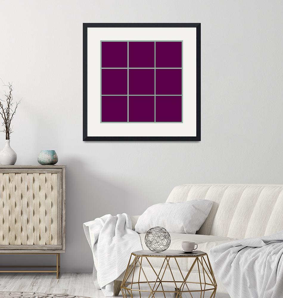 """Violet Window 190 Canvas Contemporary Modern""  (2010) by Ricardos"