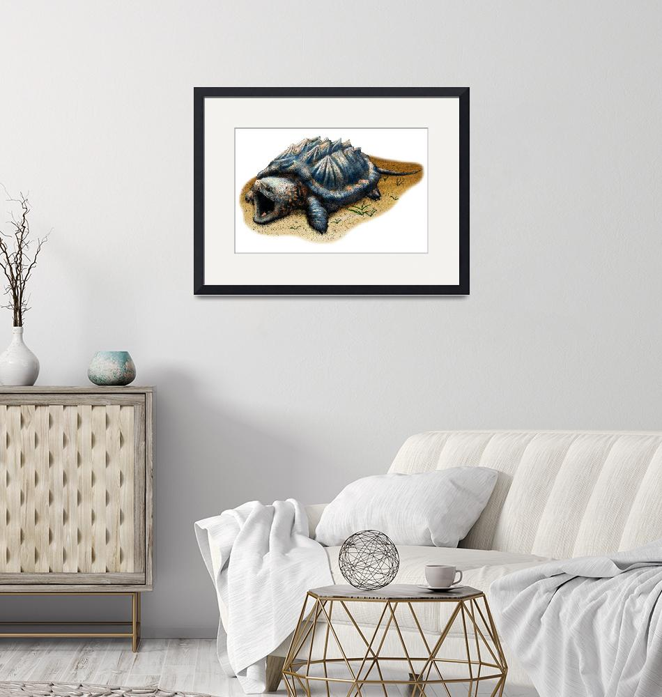 """""""Alligator Snapping Turtle""""  by inkart"""