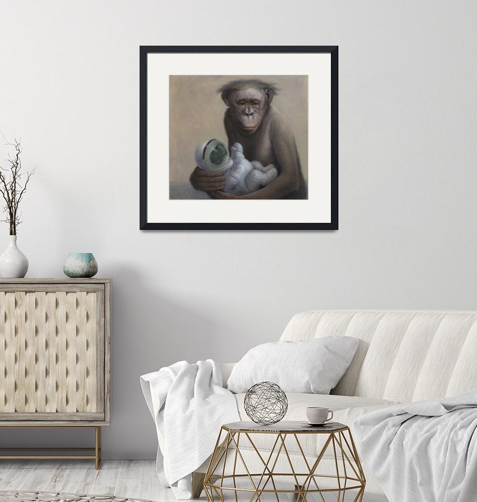 """""""Bonobo and Child""""  (2014) by Leibstudio"""