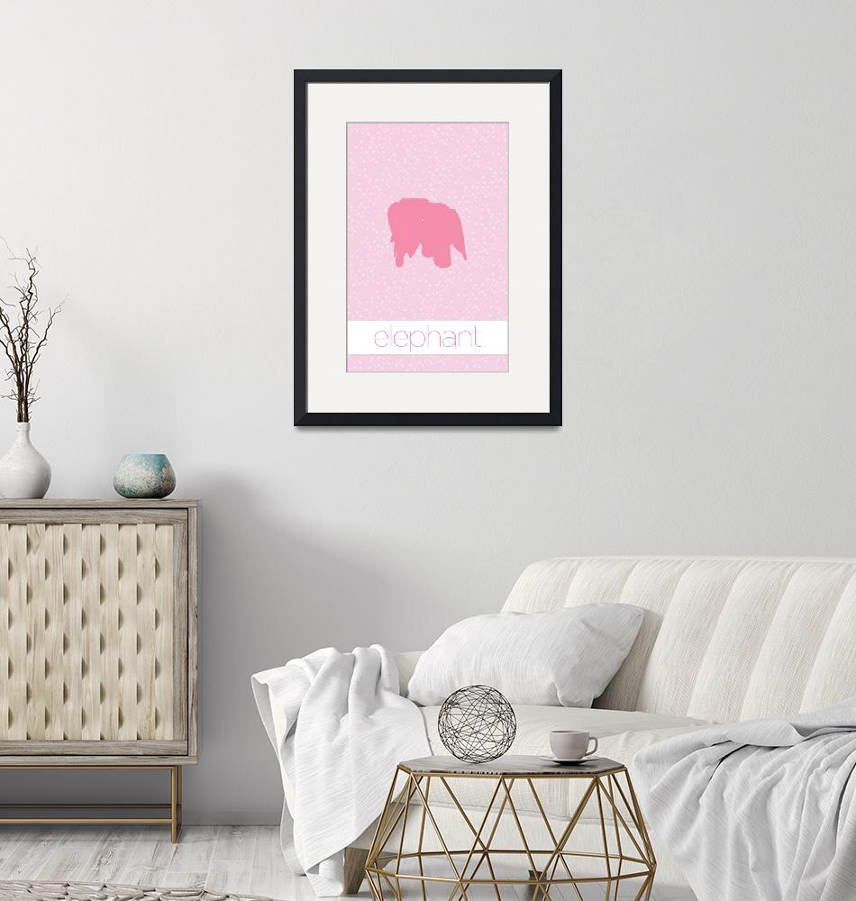 """Modern Furniture Elephant Nursery Baby Girls"" (2011) by kken"